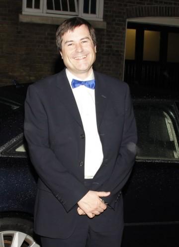 Legendary 'Elite' developer David Braben arrives at the Hilton for the Game British Academy Video Game Awards.