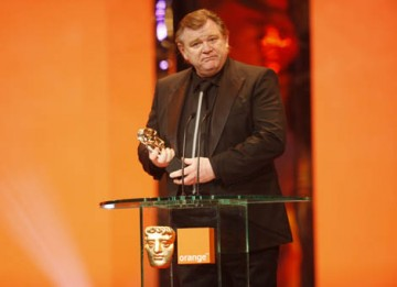 The Original Screenplay BAFTA was collected for In Bruges on behalf of Martin McDonaugh by the star of the film Brendan Gleeson (BAFTA / Marc Hoberman).