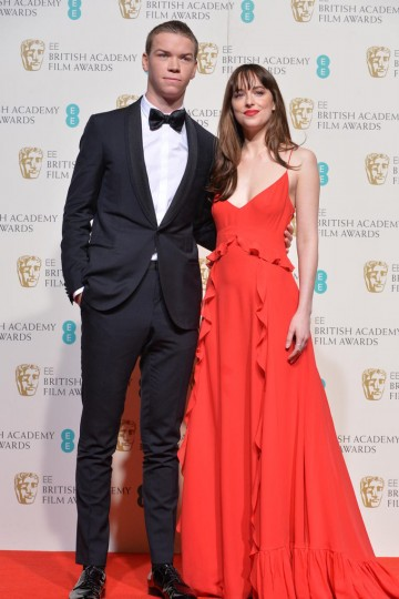 Presenters of the Outstanding Debut award: Will Poulter and Dakota Johnson