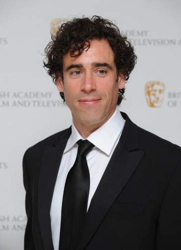 Green Wing's Stephen Mangan arrives at the London Hilton Hotel to present the award for Photography and Lighting: Fiction.