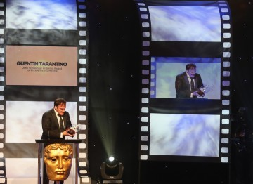 Quentin Tarantino at the Britannia Awards.