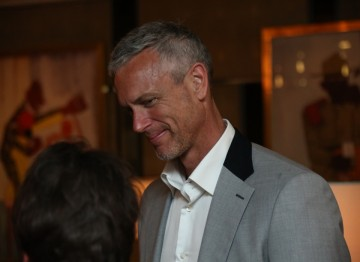 Retired British swimmer Mark Foster has work with Clare in sports broadcasting for many years.