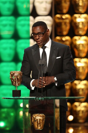 David Harewood presents the award for Single Drama