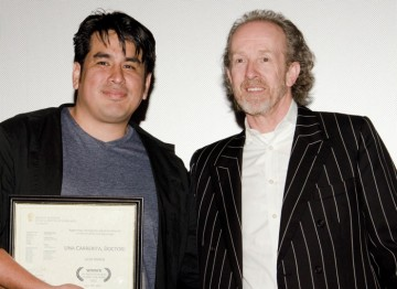 Julio Ramos and BAFTA Los Angeles Chairman Neil Stiles.
