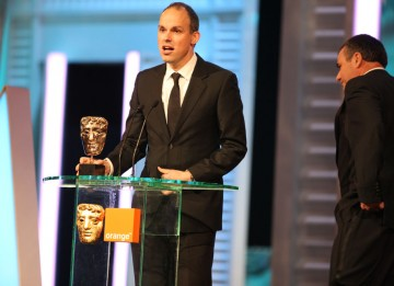 """Chris Corbould, Paul Franklin, Andrew Lockley and Peter Bebb took the BAFTA for their dazzling effects work on Inception. """"I feel like I'm about to be dunked into a cold bath and woken up and told I still have to finish the film,"""" said Franklin. (Pic: BAF"""