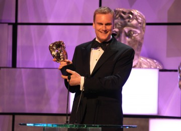 Darren Boyd collects his BAFTA for his leading role in popular Sky One comedy Spy.