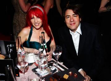 Jonathan Ross and Jane Goldman, photographed at the 2010 Film Awards
