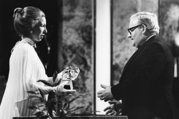 Princess Anne presents Ronnie Barker with the Light Entertainment Performance award for Going Straight & The Two Ronnies in 1979.