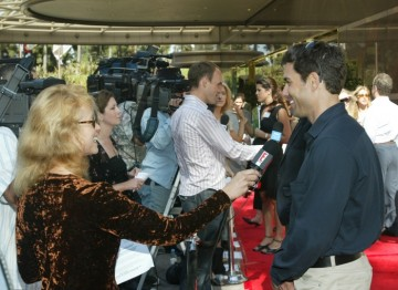 Eric McCormack on the red carpet