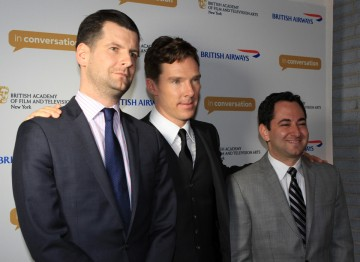Luke Parker Bowles, Benedict Cumberbatch and moderator Scott Feinberg.