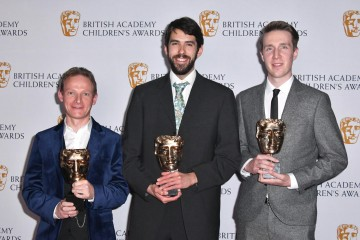 The team behind 'Refugee' accept the Drama Award