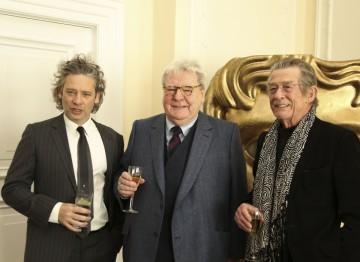 Actor/director Dexter Fletcher (left) with Alan Parker and John Hurt.