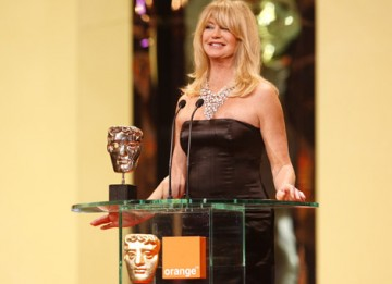 The Saving Private Benjamin star laughed as she struggled with her autocue whilst presenting the Supporting Actress category (BAFTA / Marc Hoberman).