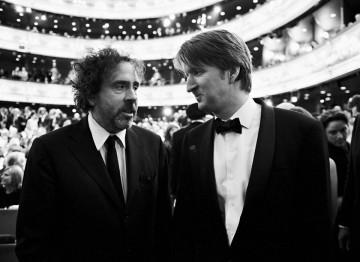 Tim Burton and Tom Hooper at the 2011 Film Awards