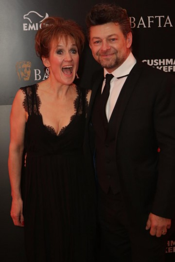 Husband and wife Lorraine Ashbourne and Andy Serkis