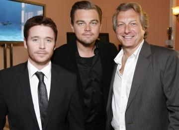 Kevin Connolly, Leonardo Di Caprio and BAFTA Los Angeles Chairman Peter Morris