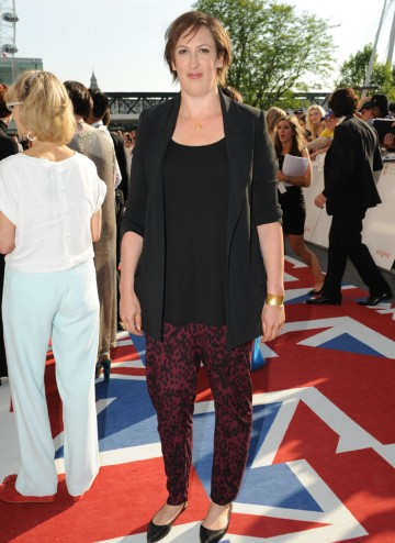 The Miranda star is a Supporting Actress nominee for her role in Call the Midwife. She wears a top by Dolce and Gabbana and trousers by Next.
