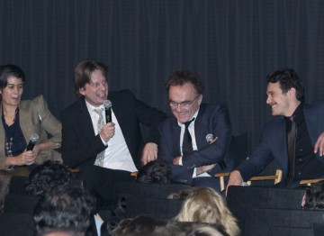 Screenwriter Simon Beaufoy, Director Danny Boyle and James Franco.