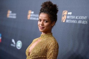 Gugu Mbatha-Raw presented Ewan McGregor with the Humanitarian Award.