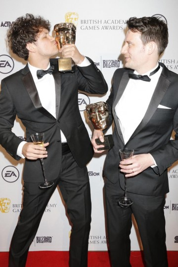 The BAFTA for Mobile & Handheld was won by the team behind Monument Valley, including BAFTA Breakthrough Brit Daniel Gray (left).