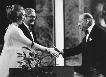 HRH The Princess Royal presented Lord Grade with the BAFTA Fellowship in 1979.