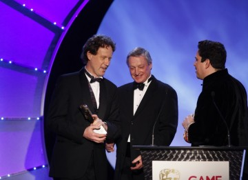 Empire: Total War is awarded best Strategy game by Dom Joly and Chris Deering (BAFTA/Brian Ritchie)
