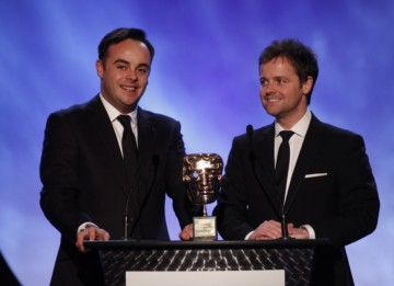 Ant and Dec deliver a retrospective of the work of this year's recipient of the Academy Fellowship, Shigeru Miyamoto (BAFTA/Brian Ritchie)