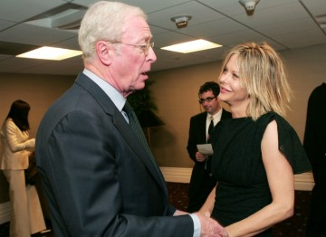 Michael Caine meets Meg Ryan backstage