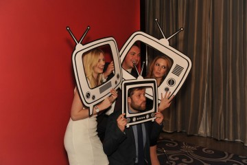 Guests at the nominees party take a snap with Boothnation