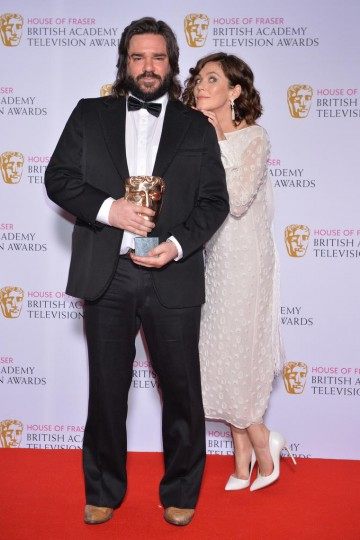 The BAFTA for Male Performance in a Comedy Programme in 2015 was presented by Anna Friel to Matt Berry.