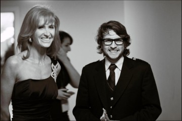 Gavin C Robinson winner of Animation and Jackie Bird