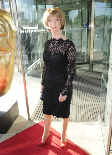 Actress Helen Worth arrives at the Awards to join in the celebrations with the Coronation Street team.