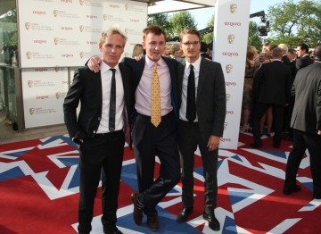 Jamie, Francis and Proudlock from E4's Made in Chelsea, which is nominated for the Reality and Constructed Factual BAFTA.