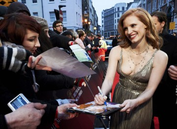 Jessica Chastain at the 2012 Film Awards