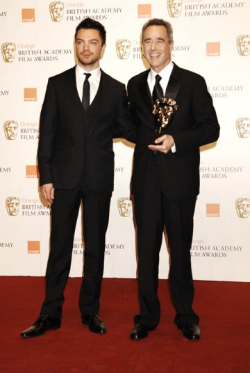 Dominic Cooper presented producer Jim Morris with the Best Animated Film award, for the Disney-Pixar hit, Wall-E (BAFTA/ Richard Kendal).