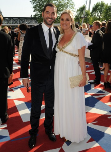 Miranda star Ellis with his actress wife Tamzin Outhwaite, who recently starred in Silent Witness. Tom wears a Hugo Boss suit and Tamzin is in a dress by Temperley.