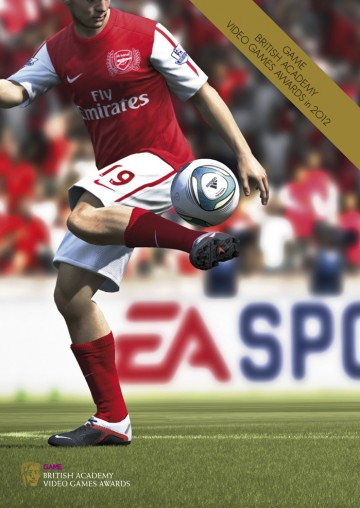 GAME British Academy Video Games Awards 2012 brochure cover: FIFA 2012
