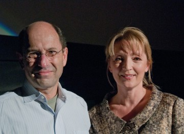 Moderator Brian Rose and Lesley Manville