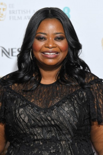 Octavia Spencer arrives at the BAFTA Nespresso Nominees' PArty
