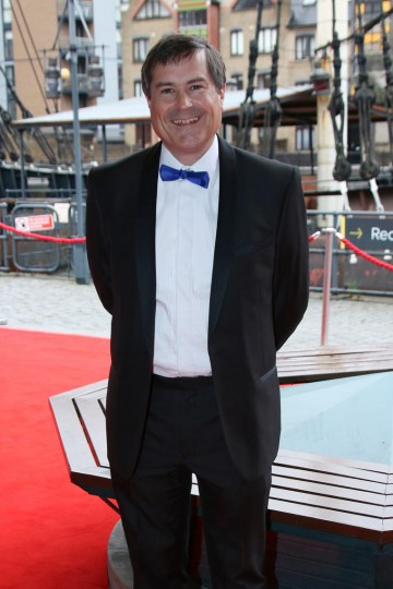David Braben on the red carpet at the British Academy Games Awards