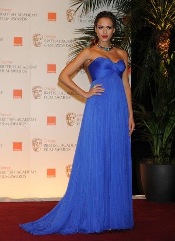 Jessica Alba announced Geoffrey Rush's Supporting Actor win for The King's Speech. (Pic: BAFTA/ Richard Kendal)