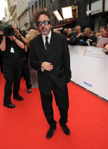 Director and BAFTA nominee Tim Burton arrives on the red carpet (BAFTA/Richard Kendal).