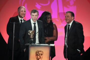 The Live from Space: Online Production Team accept the award for Digital Creativity sponsored by Technicolor at the British Academy Television Craft Awards in 2015
