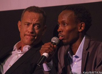 Tom Hanks and Barkhad Abdi