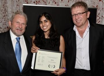 BAFTA Los Angeles Chairman Gary Dartnall, Puja Maewal and The Camera House CEO Rufus Burnham.