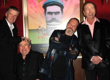 The team relax backstage after the Monty Python reunion event in New York on 15 October 2009 (© BAFTA)