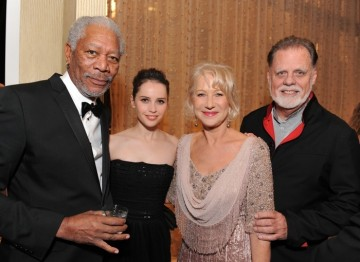 Morgan Freeman, Felicity Jones, Helen Mirren and Taylor Hackford.