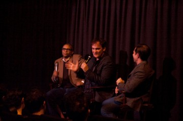Producer Reginald Hudlin, Director Quentin Tarantino, and Moderator John Hadity