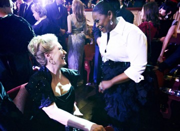 Meryl Streep and Viola Davis at the 2012 Film Awards