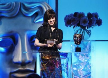 The Happy-Go-Lucky actress presented the Sound Factual Award to More 4's War Oratorio (pic: BAFTA / Richard Kendal).